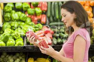 Woman choosing fresh produce