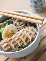 Chargrilled Chicken Soba Noodle and Miso Soup