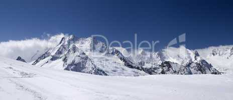 Mountain panorama. Caucasus, Dombay