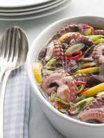 Marinated Baby Octopus Salad with Chilli