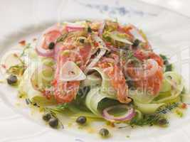 Citrus marinated Salmon with Cucumber Salad