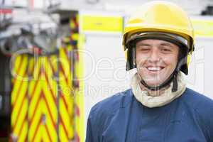 Portrait eines Feuerwehrmannes