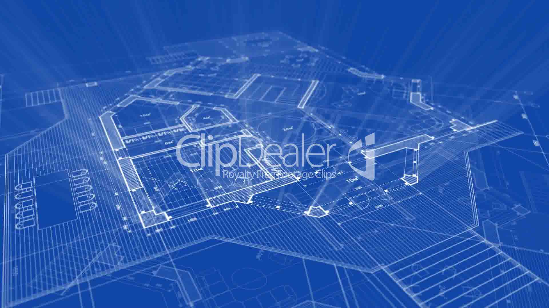 Architecture Blueprint Royalty Free Video And Stock Footage