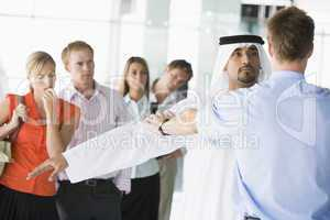Passengers going through airport security check