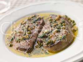 Foie Gras seared in Garlic Butter