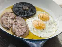 Foie Gras Eggs and Portabello Mushrooms