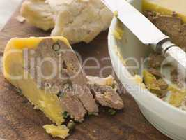 Pressing of Duck Foie Gras and Green Peppercorns with Rustic Bre
