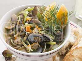Saut ed Clams with Fennel and Orange