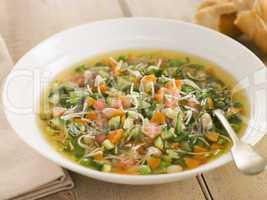 Bowl of Pistou Soup