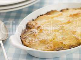 Dish of Dauphinoise Potatoes