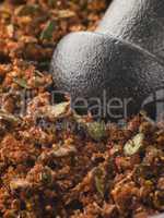 Cajun Spice Rub in a Pestle and Mortar
