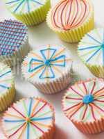 Kaleidoscope Cup Cakes