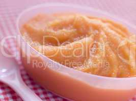 Carrot and Swede Baby Food Puree