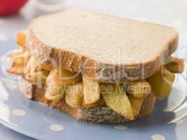 Chip Sandwich on White Bread