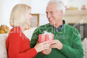 Mature Couple At Christmas
