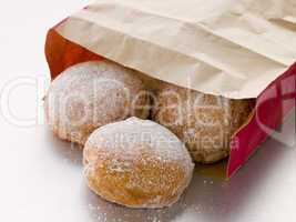 Bag Of Raspberry Jam Doughnuts