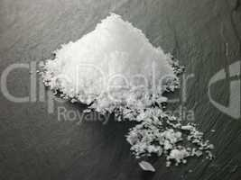 Rock Salt On Slate Background