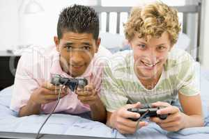 Teenage Boys Playing Video Games