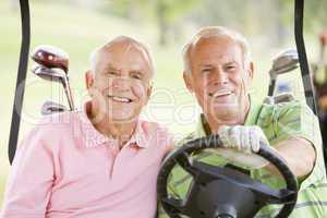 Male Friends Enjoying A Game Of Golf
