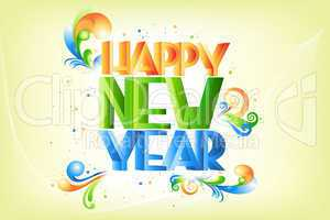 colorful new year