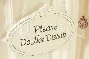 Please Do Not Disturb - Schild