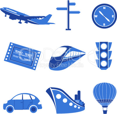 set of transportation icons