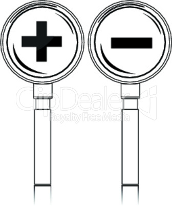 increase-decrease magnifiers icons