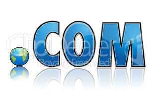 dot com with globe
