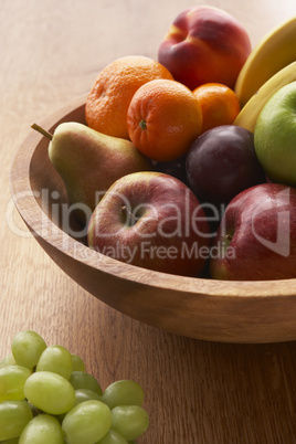 Bowl Filled With A Variety Of Fresh Fruits