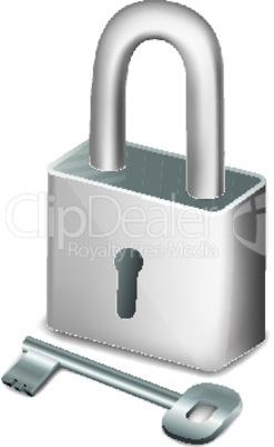 pad lock with key