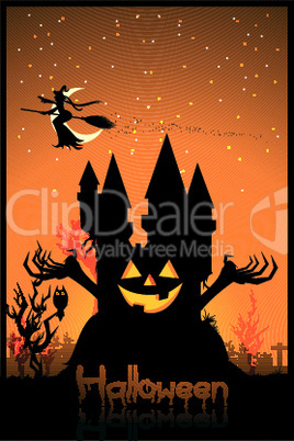 haunted house/ halloween card