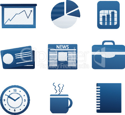 set of different business icon