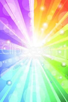 colorful sunburst background