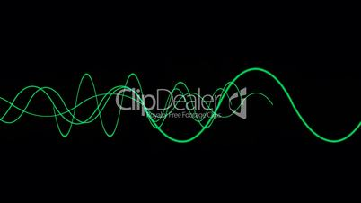 Animation of green lines wave,seamless loop.vj,beautiful,art,decorative,mind,glow,graph,illuminated,luminosity,magic,mixer,music,oscillation,pulsating,Waveform,ECG,life,alive,acoustic,analysis,Heart,rate,EEG,spectrum,pop,wave,band,frequency,radio,communic
