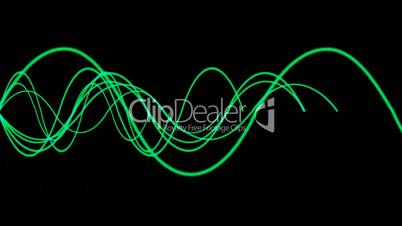 Animation of green lines wave.signals,rope,vision,idea,creativity,disorder,medical,frequency,vibration,vj,beautiful,art,decorative,mind,glow,graph,illuminated,luminosity,magic,mixer,music,oscillation,pulsating,pulse,rhythm,Electrocardiogram,Waveform,ECG,l