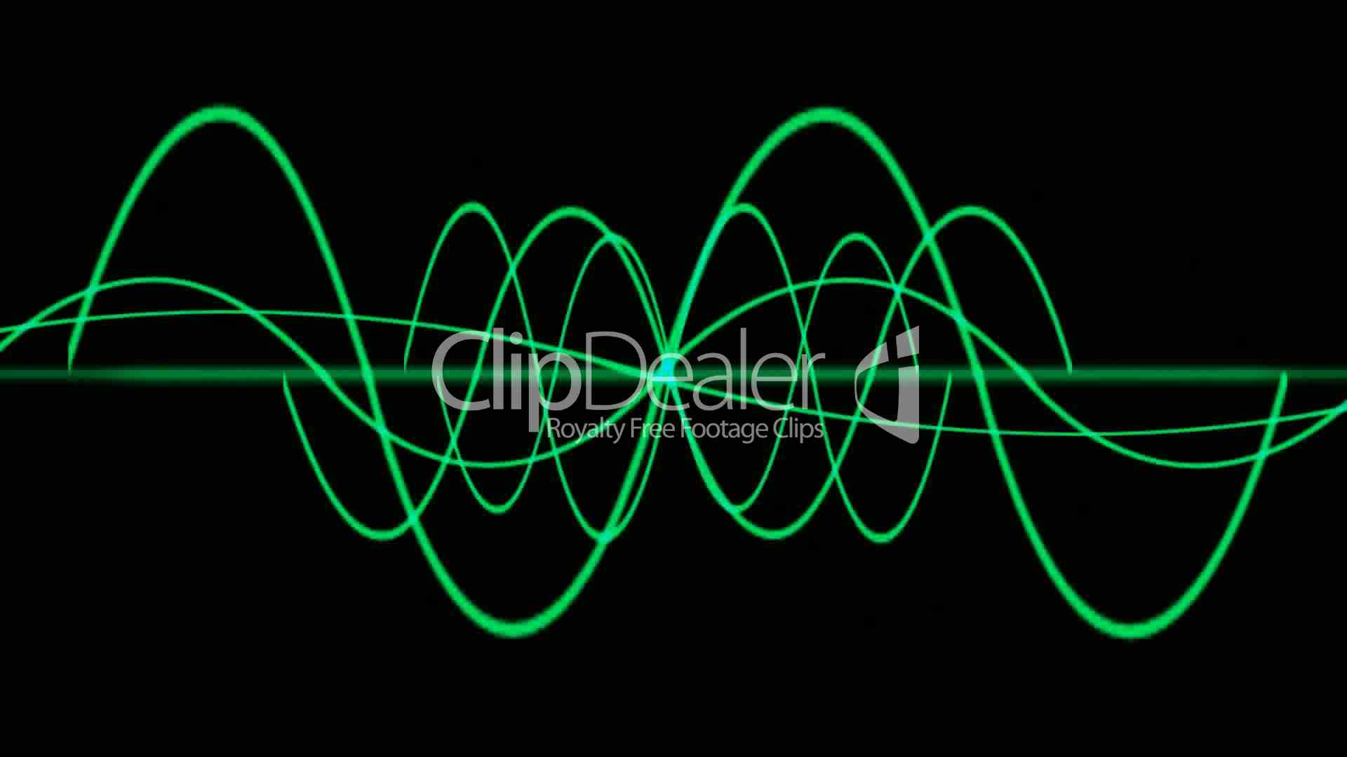 Green Lines Wave Symbol Dream Vision Idea Creativity