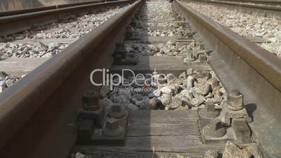 Railway tracks dolly shot