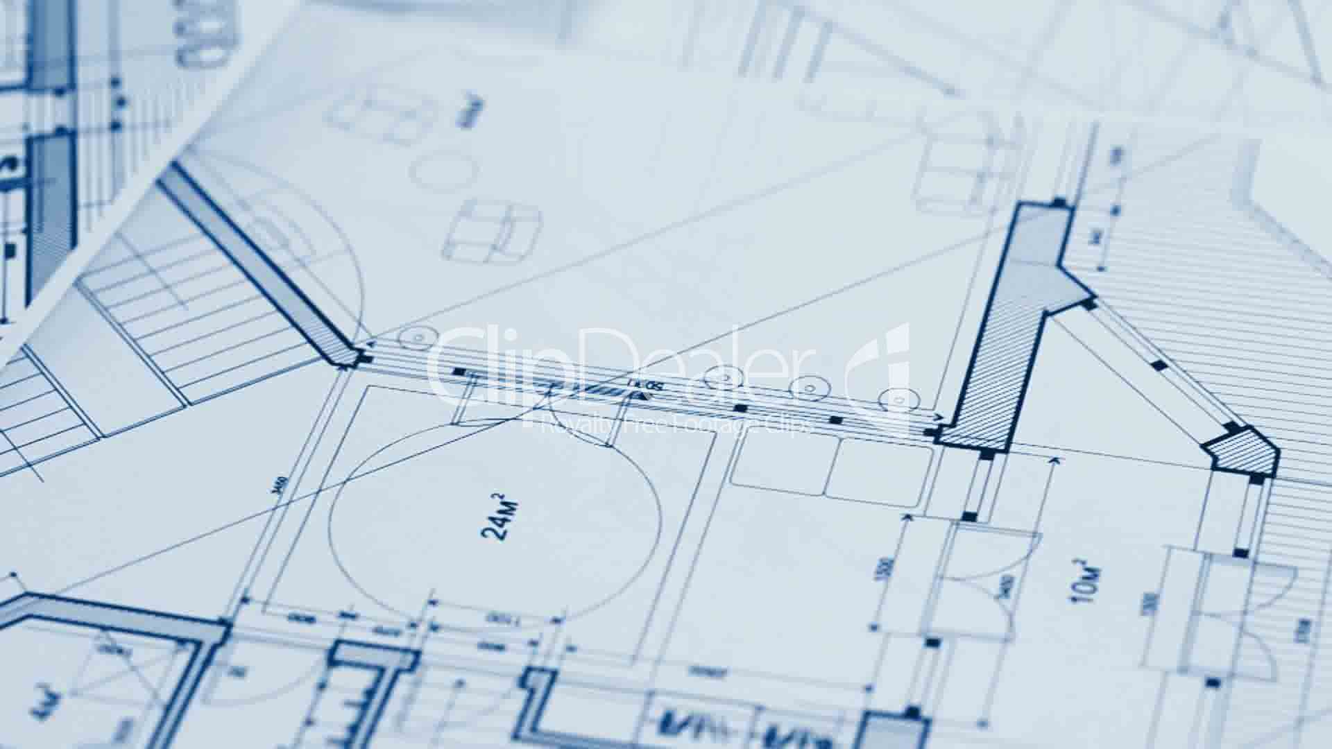 Architecture Blueprints Royalty Free Video And Stock Footage