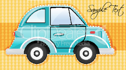 car on textured background