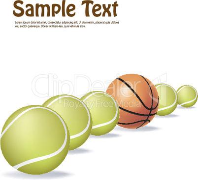 tennis and basket balls
