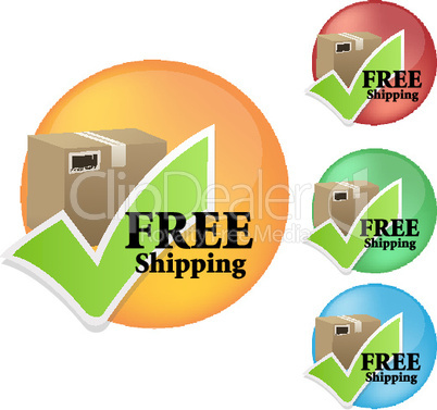 set of free shipping icons