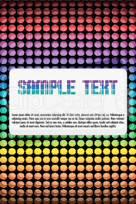 vector card with colorful dots
