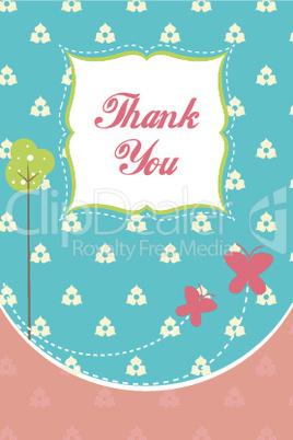 thankfulness through floral card