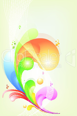 rainbow colored swirly background