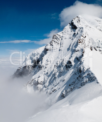 Swiss Alps and snowy peak