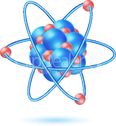 illustration of atom molecule