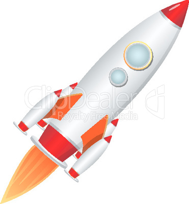 rocket launcher on isolated background