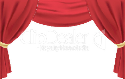 stage curtain on isolated background