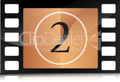countdown on film strip