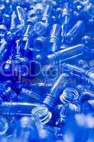 Blaue Kunststoffröhrchen Blue plastic tubes
